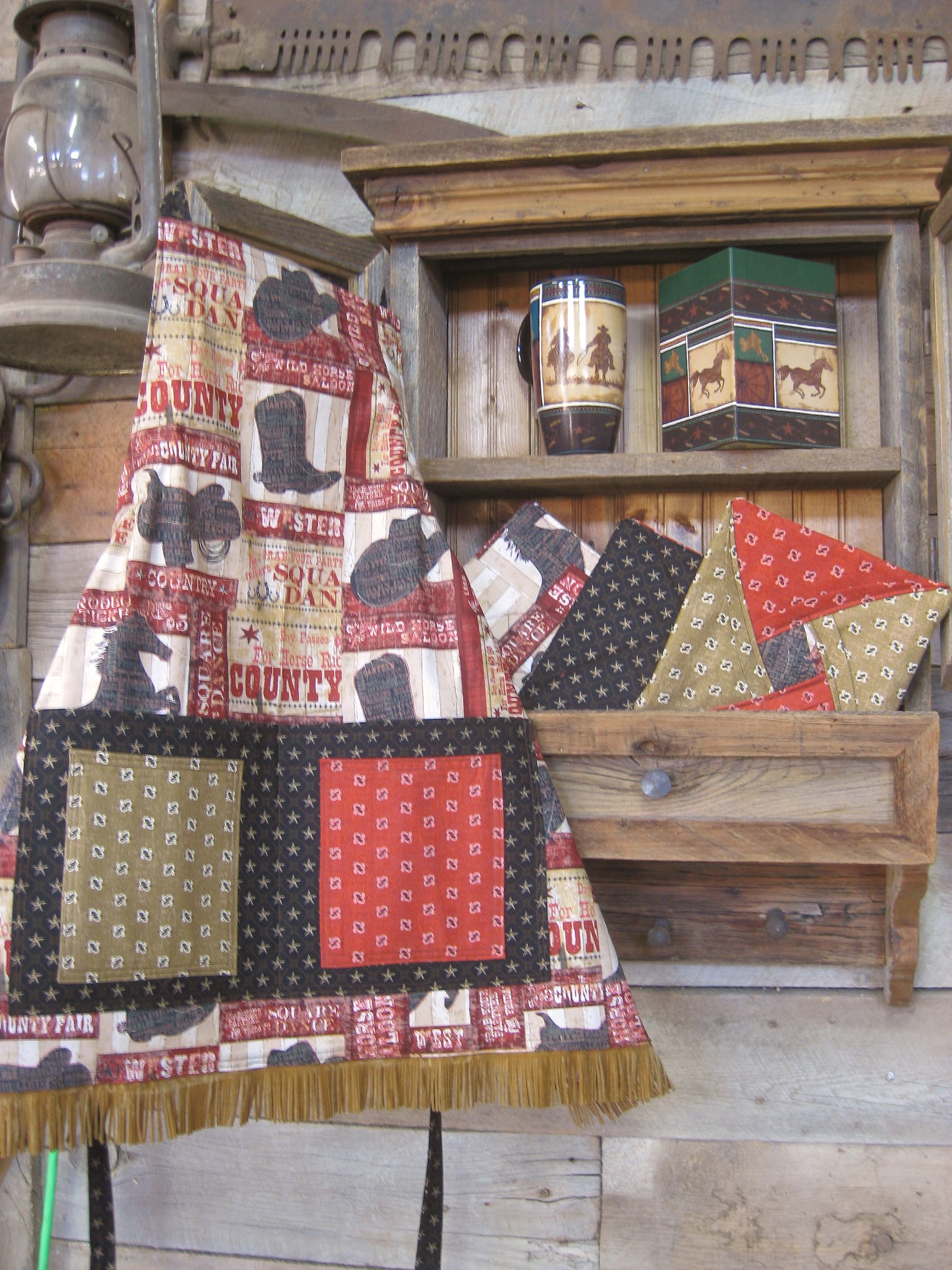 Quot County Fair Quot Home Made Apron Crazy Woman Trading Post